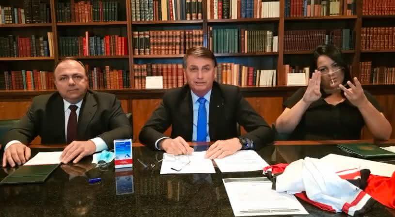 "Após o Brasil contabilizar 100 mil mortes por Covid, Presidente afirma ""vamos tocar a vida"""