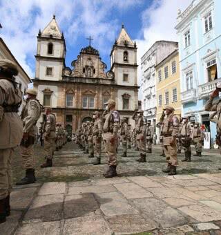 PM lança operação para reforçar policiamento no Centro Histórico de Salvador (Foto: Alberto Maraux/SSP)